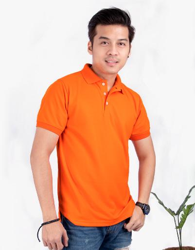 เสื้อโปโล สีส้มแสด
